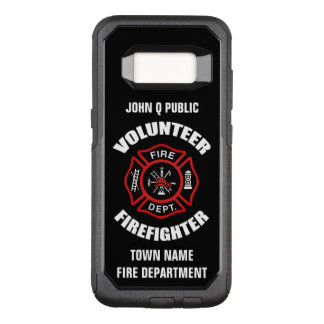 Volunteer Firefighter Name Template OtterBox Commuter Samsung Galaxy S8 Case