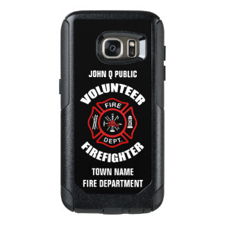 Volunteer Firefighter Name Template OtterBox Samsung Galaxy S7 Case