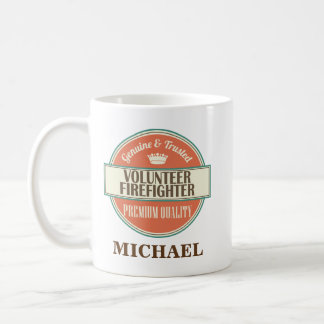 Volunteer Firefighter Personalized Office Mug Gift
