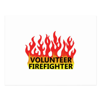 VOLUNTEER FIREFIGHTER POSTCARD