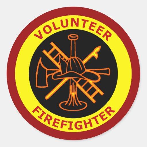 VOLUNTEER FIREFIGHTER STICKERS