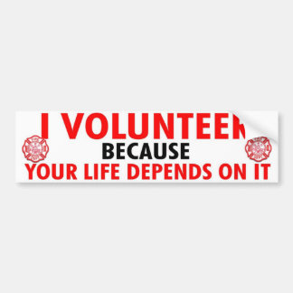 VOLUNTEER LIFE BUMPER STICKER