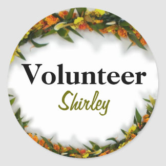 Volunteer Name tag sticker template