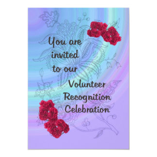 Volunteer Recognition Invitation Red carnations