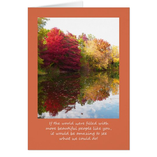 Volunteer Thank You Card -- Beautiful Landscape