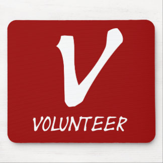 Volunteer Tshirts, Volunteer Buttons and more Mouse Pads