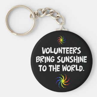 Volunteers bring sunshine to the world key ring