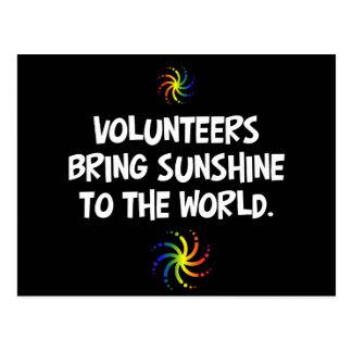 Volunteers bring sunshine to the world postcard