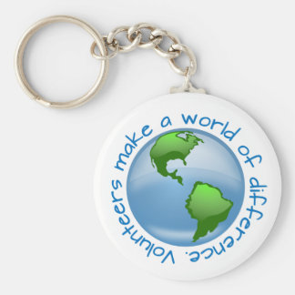 Volunteers Make a World of Difference Key Ring