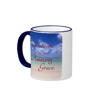 Volunteers share God's amazing grace Coffee Mug