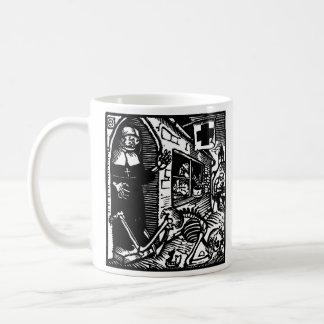 Vom Totentanz Nun and Skeleton mug