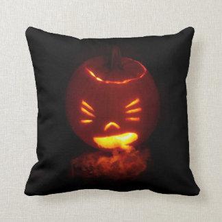 Vomiting Jack-O-Lantern Throw Pillow Throw Cushions