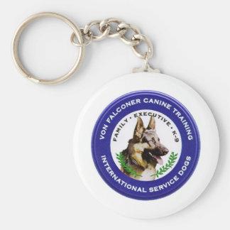 Von Falconer Canine Basic Round Button Key Ring