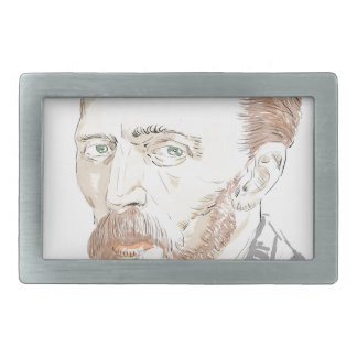 Von Gogh Rectangular Belt Buckles