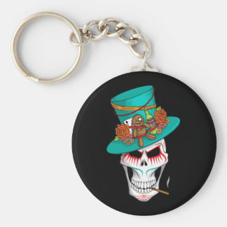 Voodoo Day of the Dead Basic Round Button Key Ring