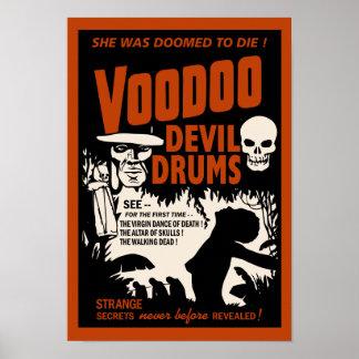 Voodoo Devil Drums Vintage Poster