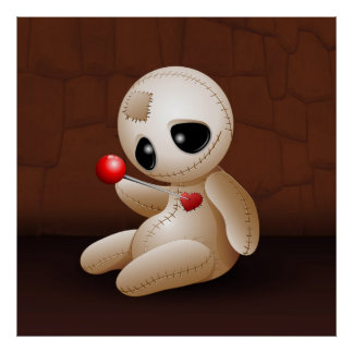 Voodoo Doll Cartoon in Love posters