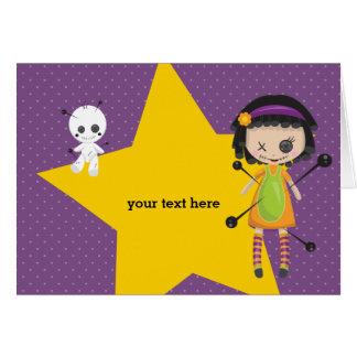 Voodoo doll - choose background color card