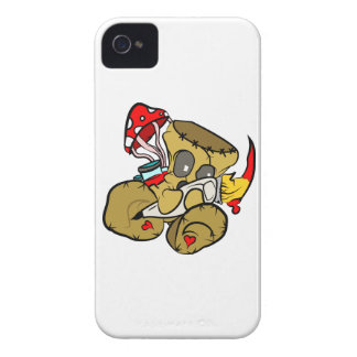Voodoo Doll Holding Paintbrush in Red iPhone 4 Case