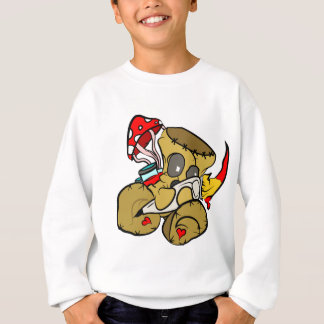 Voodoo Doll Holding Paintbrush in Red Sweatshirt