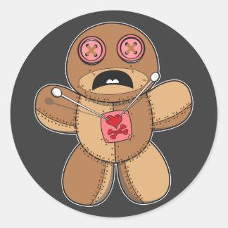 Voodoo Doll Illustration Classic Round Sticker