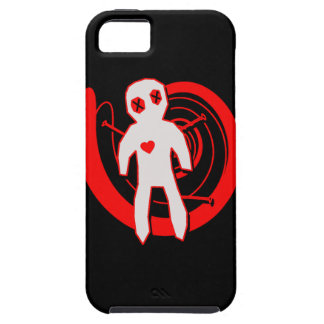 Voodoo Doll in Black and Red iPhone 5 Cases
