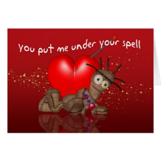 Voodoo Doll Valentine's Day Card, You Put Me Under Card