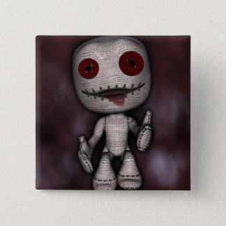 Voodoo Dolly 15 Cm Square Badge