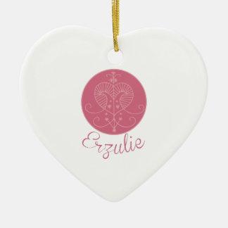 Voodoo Erzulie Ceramic Heart Ornament