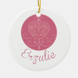 Voodoo Erzulie Double-Sided Ceramic Round Christmas Ornament