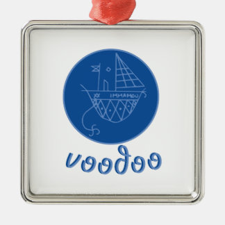 Voodoo Immamou Veve Silver-Colored Square Decoration