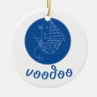 Voodoo Immamou Veve Round Ceramic Ornament
