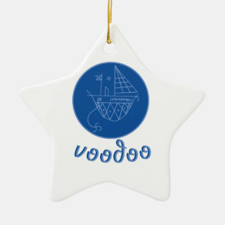 Voodoo Immamou Veve Ceramic Star Decoration