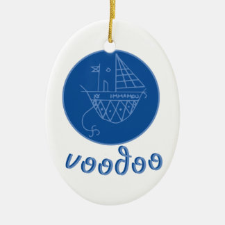 Voodoo Immamou Veve Ceramic Oval Decoration