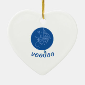 Voodoo Immamou Veve Ceramic Heart Decoration