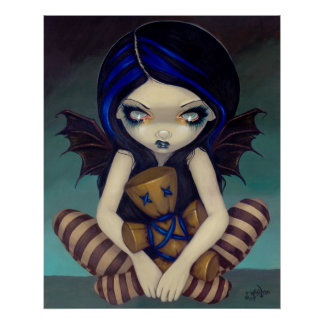 Voodoo in Blue gothic fairy Art Print