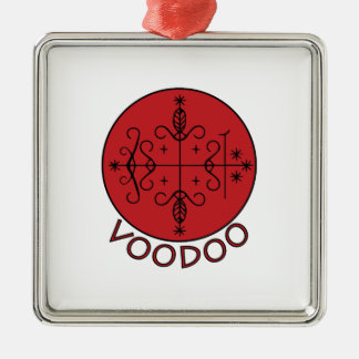 Voodoo Legba Veve Silver-Colored Square Decoration