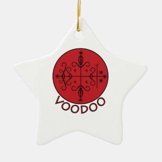 Voodoo Legba Veve Ceramic Star Decoration