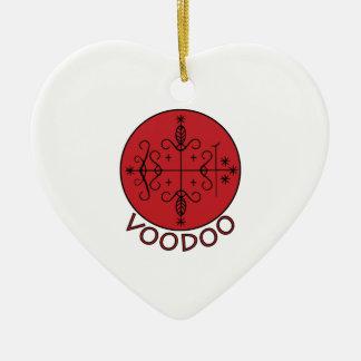 Voodoo Legba Veve Ceramic Heart Decoration