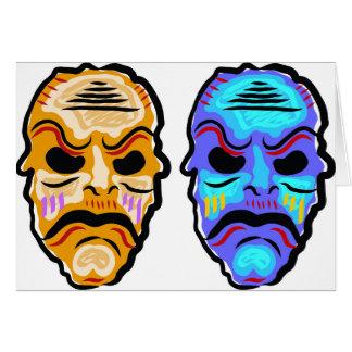 Voodoo Mask Sketch Card