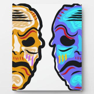 Voodoo Mask Sketch Plaque