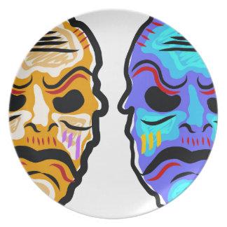 Voodoo Mask Sketch Plate