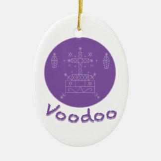 Voodoo Samedi Veve Ceramic Oval Decoration