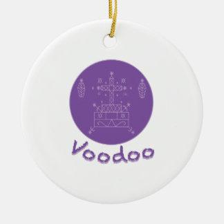 Voodoo Samedi Veve Round Ceramic Ornament