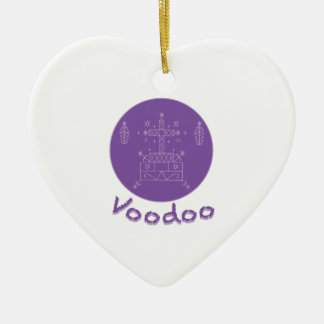 Voodoo Samedi Veve Ceramic Heart Ornament
