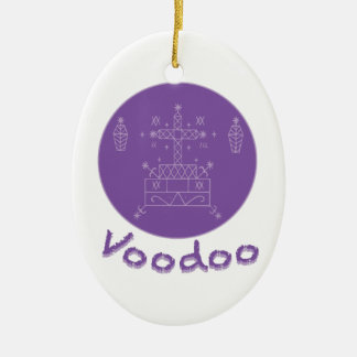 Voodoo Samedi Veve Ceramic Oval Ornament