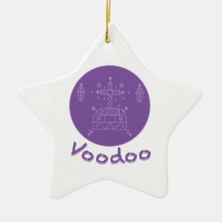 Voodoo Samedi Veve Ceramic Star Decoration