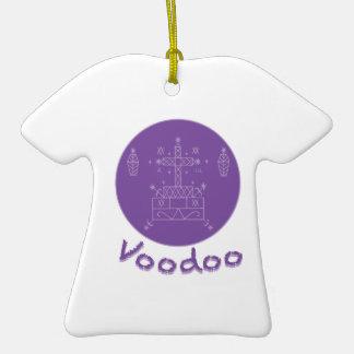 Voodoo Samedi Veve Double-Sided T-Shirt Ceramic Christmas Ornament