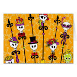 VOODOO SKULL MARDI GRAS PARTY GREETING CARDS