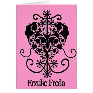 Voodoo valentine Card - Erzulie Freda